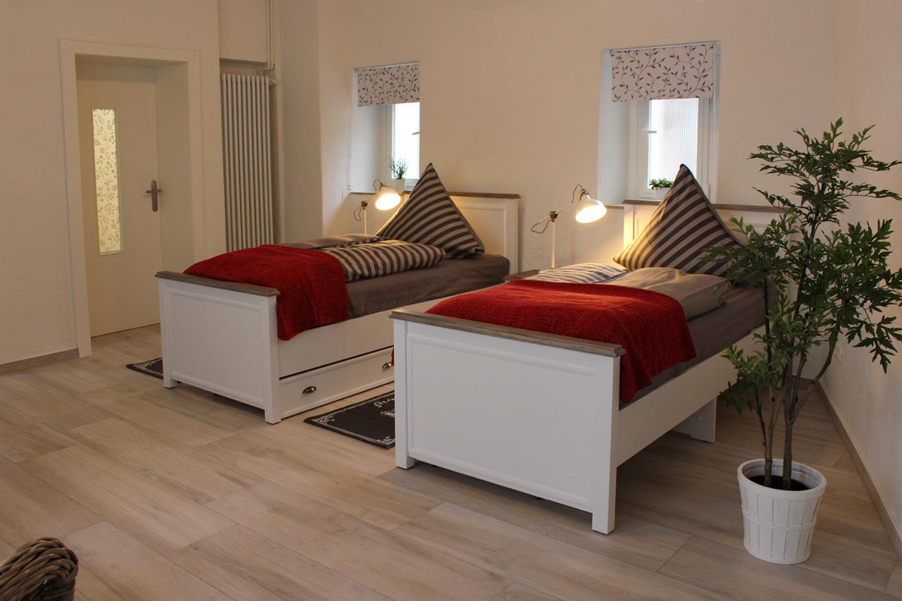 Freundliches Appartement mit 2 Einzelbetten
