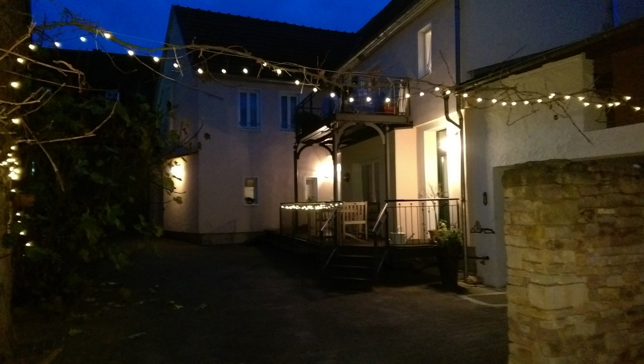 Unser Innenhof im Advent.